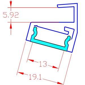 LED профил за стъклен рафт