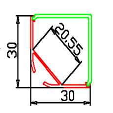 LED профил за окачване, ъглов LED профил