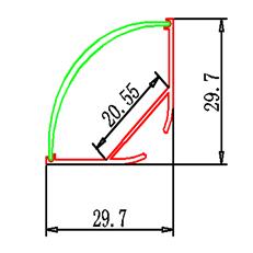 Ъглов LED профил, LED профил за окачване